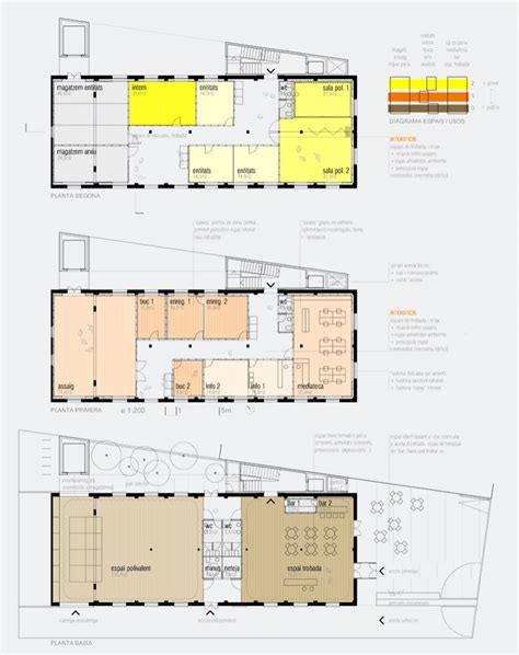youth center floor plans vora arquitectura en proc 233 s