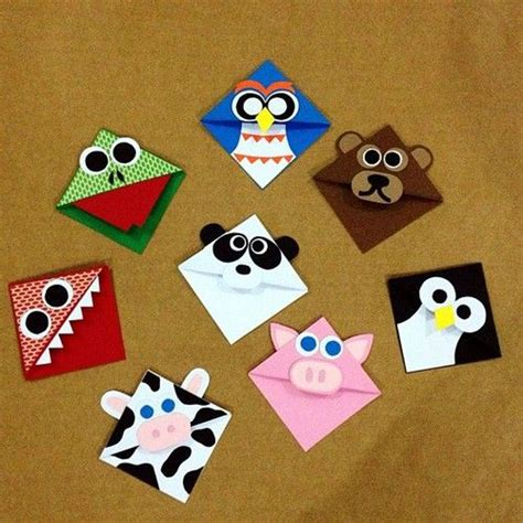 Origami Bookmark Panda - page corner bookmarks diy crafts bookmarks