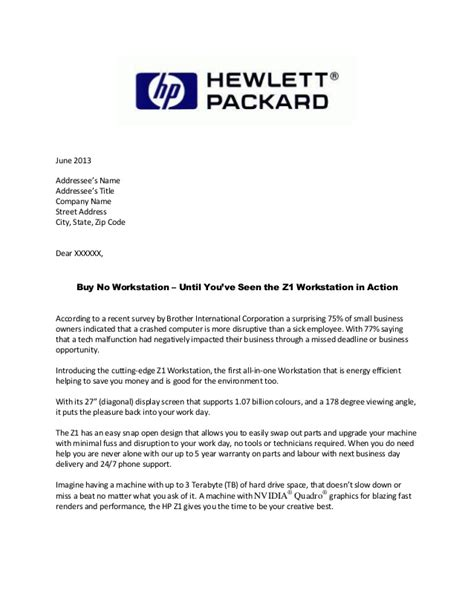 Hp Letter Template Hp Direct Mail Letter