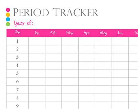 Menstrual Calendar Printable Pdf Period Tracker Etsy