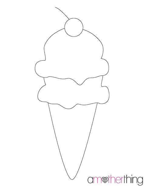 scoop template cone stencil pictures to pin on