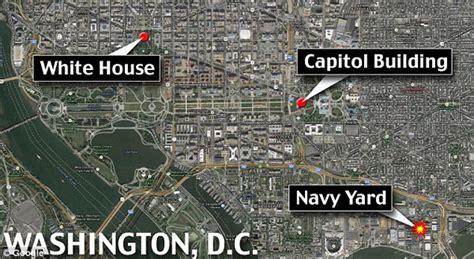 washington dc map navy yard gunman opens at navy yard in washington remains at