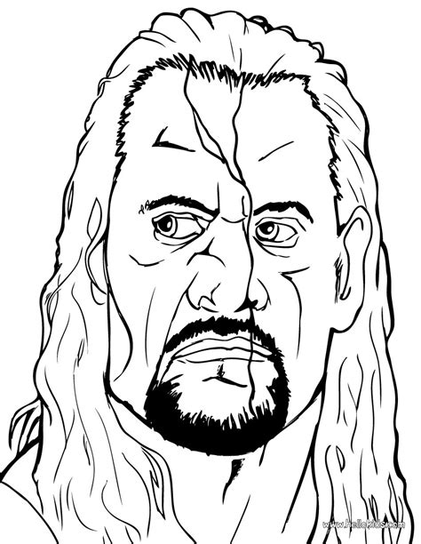 wrestling coloring pages the undertaker