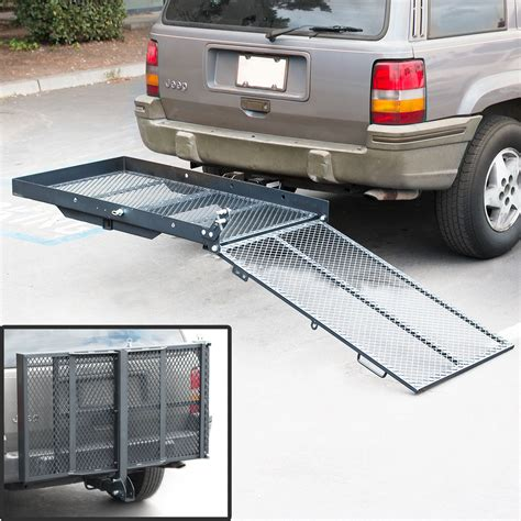 Wheelchair Rack Trailer Hitch by Fold Up Mobility Carrier Wheelchair Electric Scooter Rack