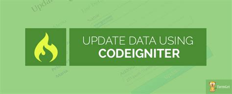 codeigniter code update codeigniter update data in database