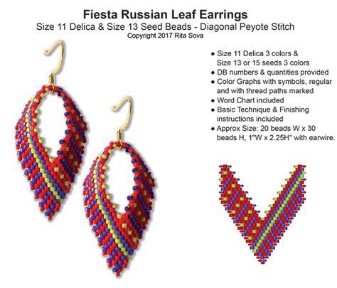 Beaded Leaf Earrings russian leaf earrings bead patterns