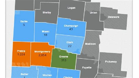 dayton power and light outage map about 7 500 without power in montgomery county wkef