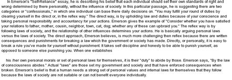 Self Reliance Essay by Emerson S Quot Self Reliance Quot At Essaypedia