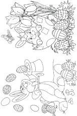 Exemple Cuisine En L 2053 by Coloriage Lapin Paques 27 Sur Hugolescargot