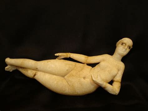 reclining female figure a parthian gypsum alabaster reclining female figure for