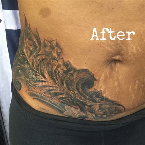tattoo cover up stomach scar cover up www littlechicotattoo com
