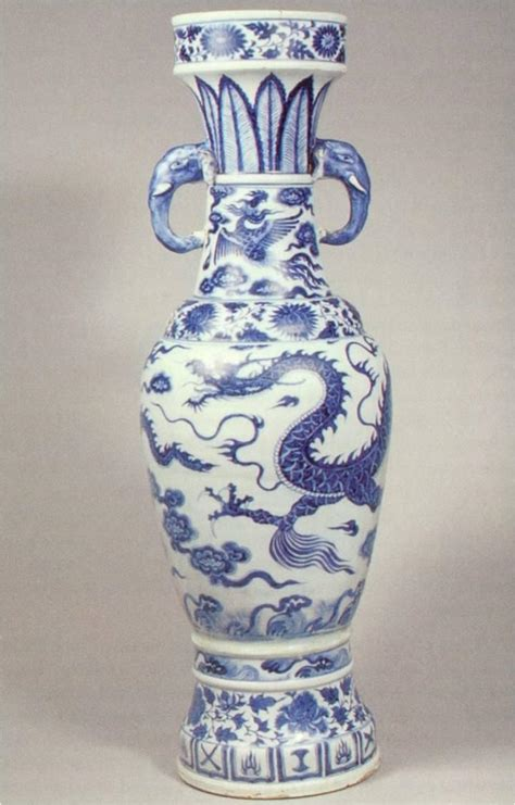 Yuan Vase by Ceramics Temple Vase 1351 Porcelain Yuan Dynasty This