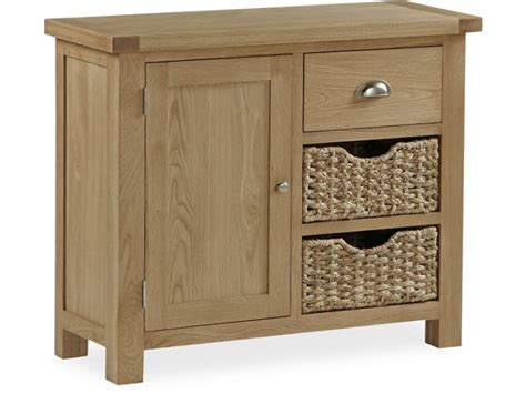 Sideboards With Baskets newmarket oak small sideboard with baskets longlands