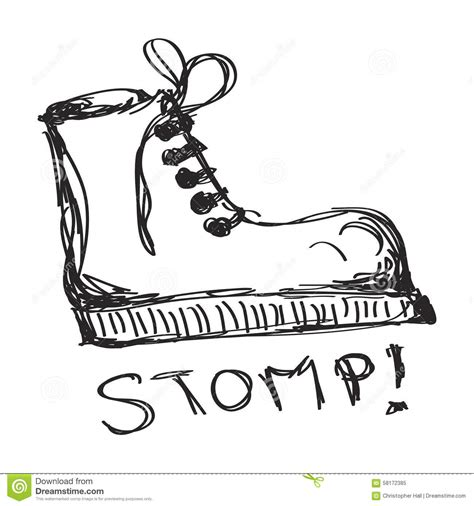 doodle boot c simple doodle of a boot stock vector image 58172385