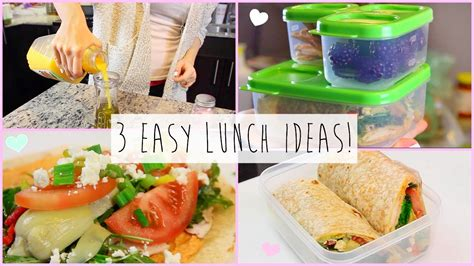 Lunch Ideas For Work - 3 healthy easy lunch ideas for work school