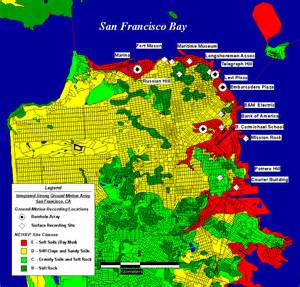 Usgs San Francisco Earthquake Map by San Francisco Earthquake Map Risk