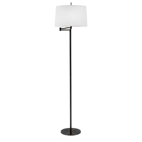 swing arm floor ls home depot fangio lighting 62 in black metal swing arm floor l