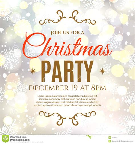 christmas party poster template stock vector image