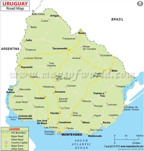 map of uruguay uruguay road map maps and