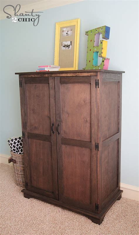 pottery barn armoire pottery barn inspired armoire free plans shanty 2 chic