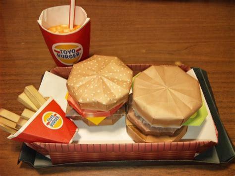 How To Make A Paper Hamburger - ハンバーガーセット 折り紙 まさに芸術 折り紙の巧みたち 作品集 写真 画像 naver まとめ
