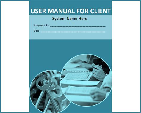 user manual template free boring work made easy free templates for creating manuals