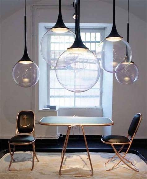 xenos kronleuchter luftblasen len design licht inszenierung esszimmer
