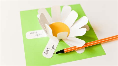 make note cards from photos how to make memo note card flower step by step