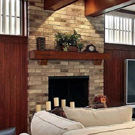 large fireplace mantel shelf rustic pine wood lodge wall