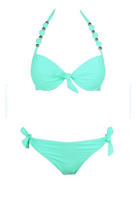 maillots de bains maillot de bain balconnet vert pastel maillot de bain push up