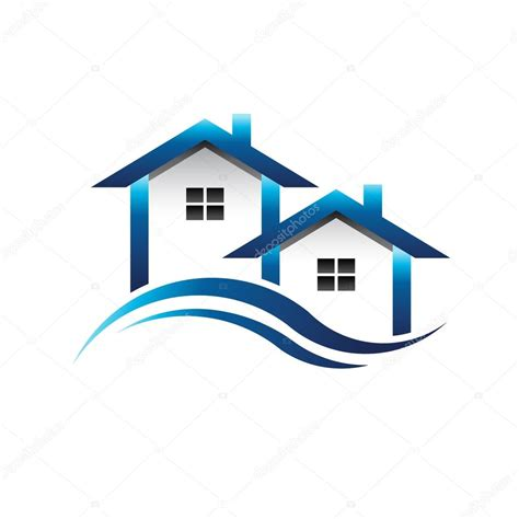 real estate house pictures blue houses real estate logo stock vector 169 deskcube 63913881