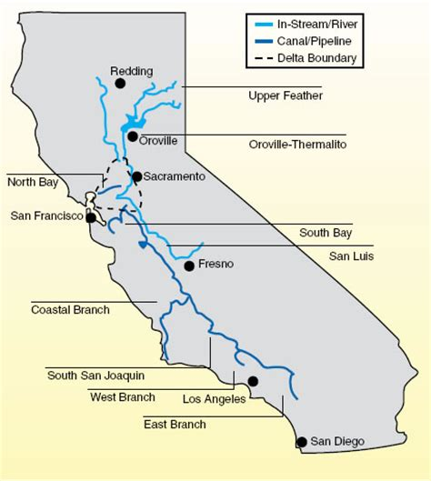 california state water project map state water project versus colorado river water supplies