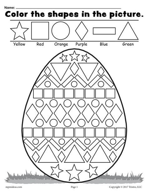 easter pattern worksheet free easter egg shapes worksheet coloring page