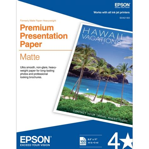 Xceed Gift Letter Epson S042180 Paper Premium Presentation Paper