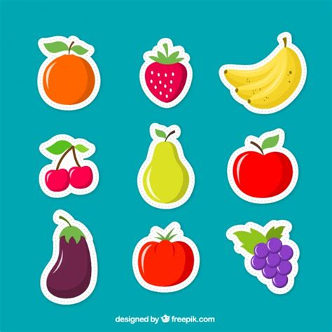 fruit free fruits stickers vector free