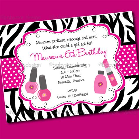 spa birthday invitation template spa invitation template oxsvitation