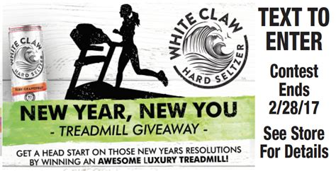 Treadmill Giveaway - white claw hard seltzer s treadmill giveaway king kullen