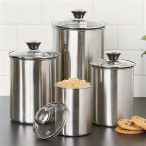 kitchen canister sets stainless steel set of 4 stainless steel kitchen from cornerstone