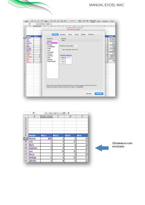 tutorial excel en mac manual de funciones de excel en mac monografias com