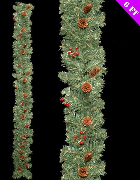6 foot long luxury decorated christmas xmas festive wreath