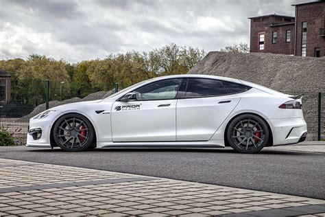 Tesla Goes Tesla Model S Goes Aggressive With Prior Design Bodykit