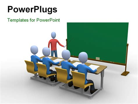 powerpoint templates for class presentation powerpoint template a teacher in the classroom during