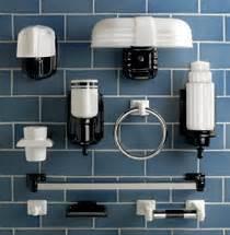 1920s bathroom light fixtures ceramic towel bars soap dishes more from rejuvenation retro renovation