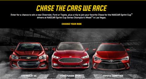 Chase Sweepstakes 2016 - nascar chase for the sprint cup sweepstakes sun sweeps