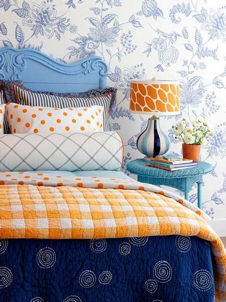 Blue And Orange Bedroom Decor by 10 Blue Bedroom Decorating Ideas Adding Blue Colors To