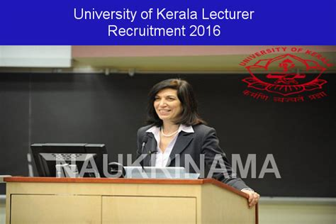 Mba Lecturer Vacancy In Kochi by Of Kerala Recruitment 2016 Lecturer Statistics