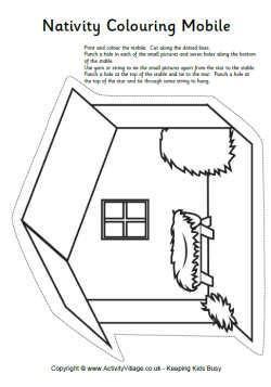 Colour In Nativity Day Scene With » Ideas Home Design