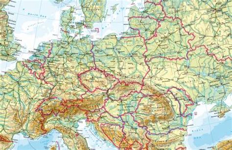 physical map of central europe maps central europe physical map diercke