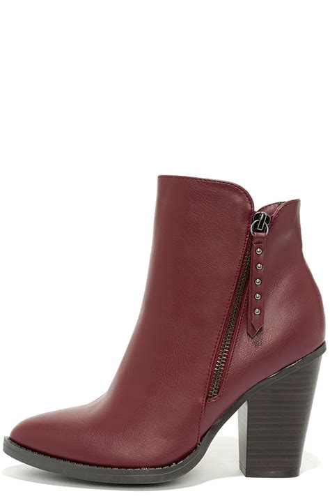 burgundy boots ankle boots burgundy booties 37 00
