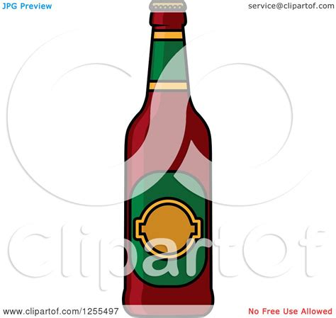 beer bottle cartoon clipart of a cartoon beer bottle royalty free vector